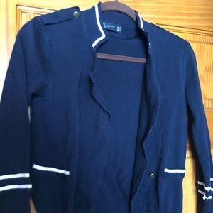 Zara sweater size medium blue with detail